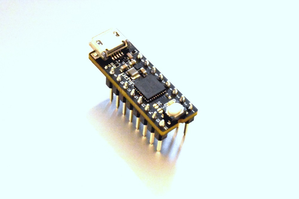 uChip with soldered headers